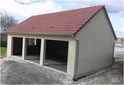 Construction d'un garage avec fermettes à Pougues-les-Eaux