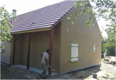 Construction d'un garage dans le prolongement de l'habitation existante